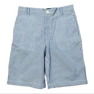 E-Land Kids Boys Striped Seersucker Shorts Blue 8